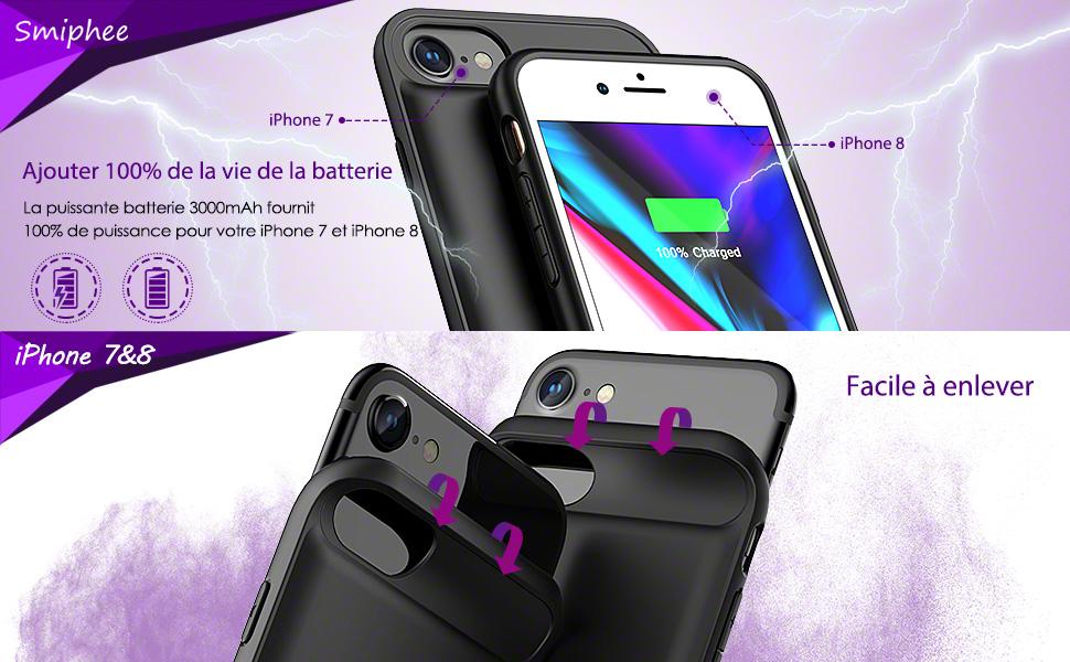 custodia per iphone 8 con batteria
