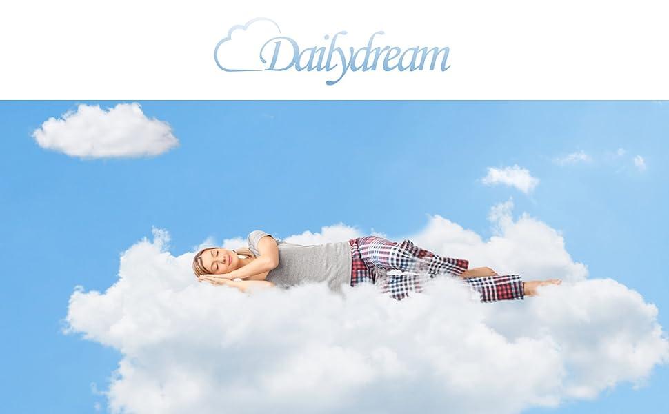 Dailydream correttore Materasso viscoelastico Deluxe con Effetto Memory Foam 80x200x5cm