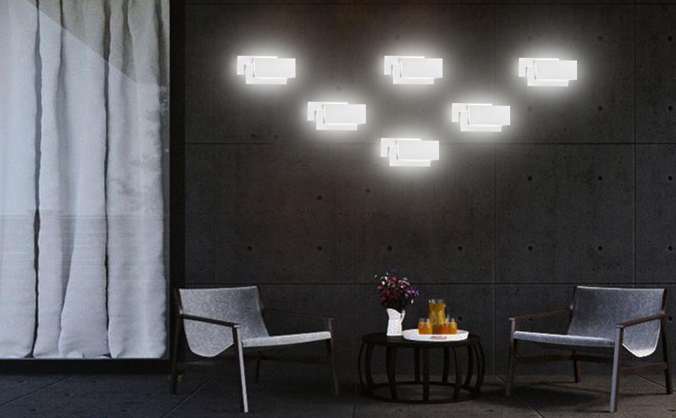 Plafoniere Moderne Da Parete : Ralbay applique da parete interni led w v lampada a muro
