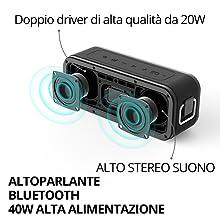 altoparlante bluetooth stereo