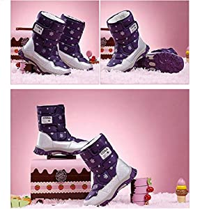 DoGeek Bambini Stivali da Neve Inverno Ragazza Stivaletti Pelliccia ... d613e5ffc1b