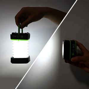 LE Mini Lanterna 120 lumen Faretto-Lanterna 3 Modalit/à Fissa Flash Bianco Freddo 6000K Apribile-Chiudibile Porta Micro USB Specchietto Agganciabile per Macchina Campeggio Escursioni Notturne Emergenze