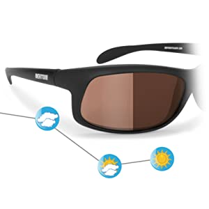Bertoni Occhiali Sportivi Fotocromatici Polarizzati Antivento per