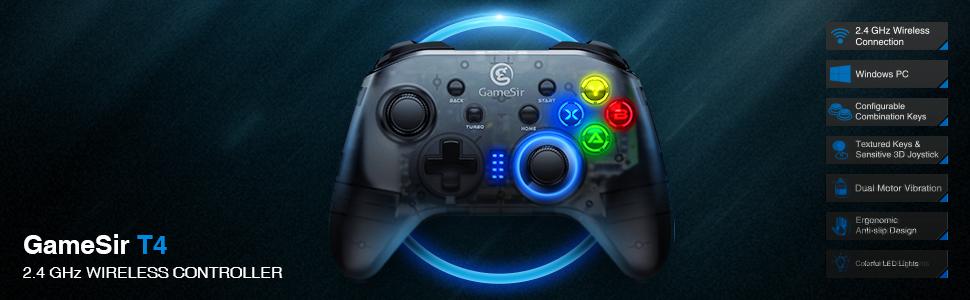 pc gamepad wireless senza fili