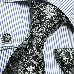set coordinato uomo cravatta pochette gemelli fermacravatta