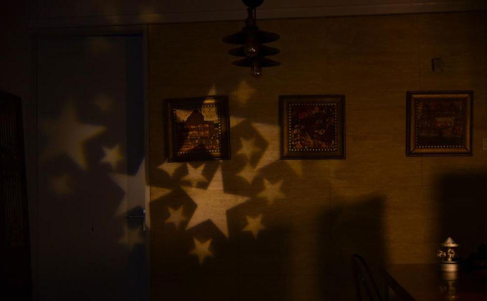 Gesimei proiettore luci natale esterno bianco caldo stella