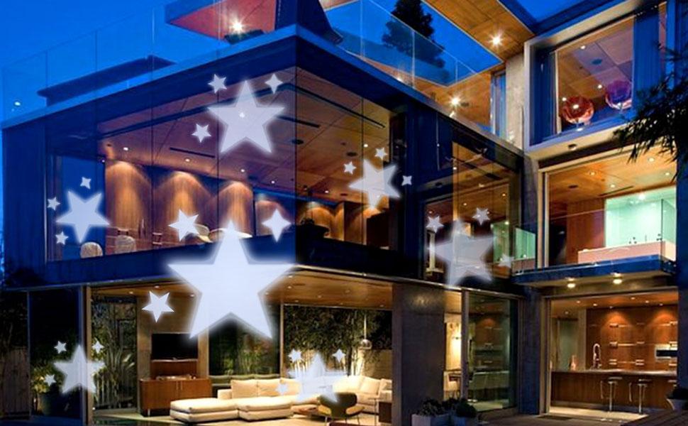 Gesimei proiettore luci natale esterno bianco stella proiezione