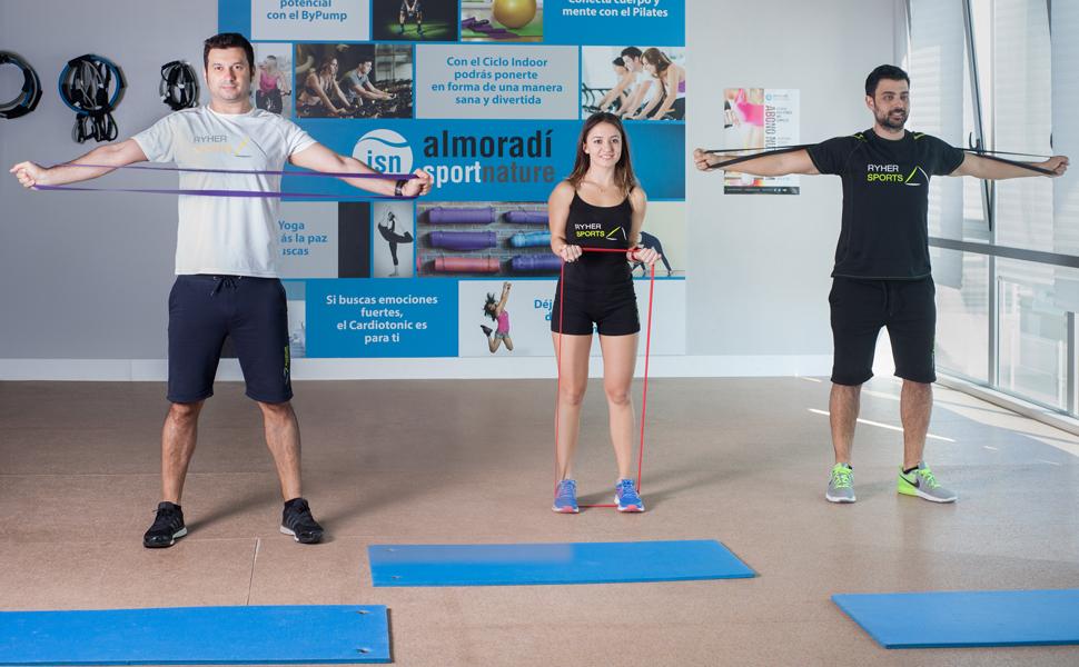 Ryher Empresa española Fabricante de Bandas de Resistencia Fitness - Banda Elastica musculacion para Crossfit, dominadas, Asistente para pullups o ...