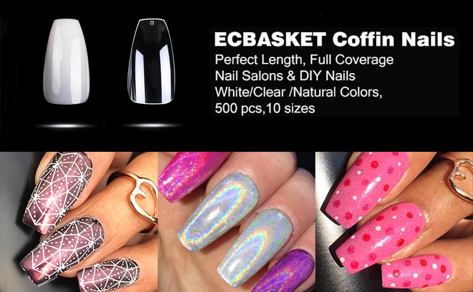 ECBASKET Coffin Ballerina Nails