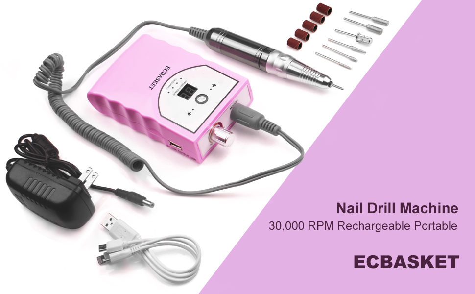 ECBASKET rechargeable nail drill