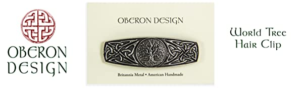 Oberon, Oberon Design, Hair Clip, Barrette, Celtic, World Tree