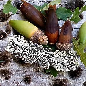 Oberon, Oberon Design, Oak Leaves, Hair Clip, Barrette