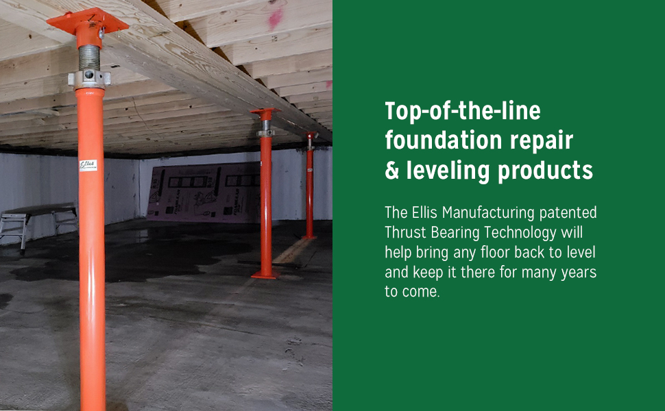 Ellis Manufacturing, top-of-the-line foundation repair amp; leveling products