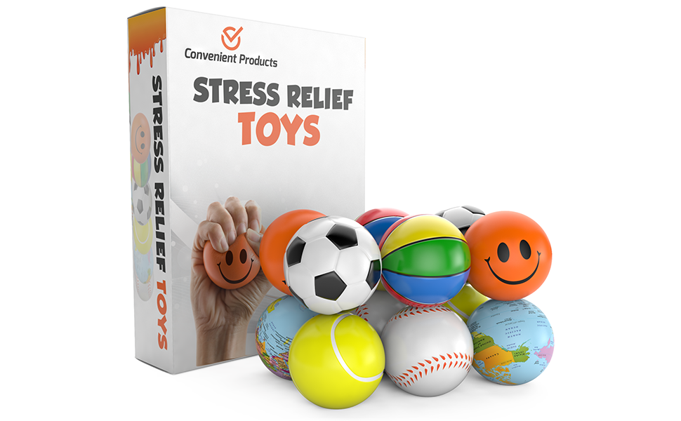 Amazon.com: Stress Balls for Kids & Adults - 12 Pack ...