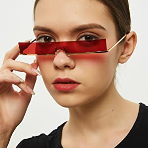 vintage rectangle sunglasses clear colored