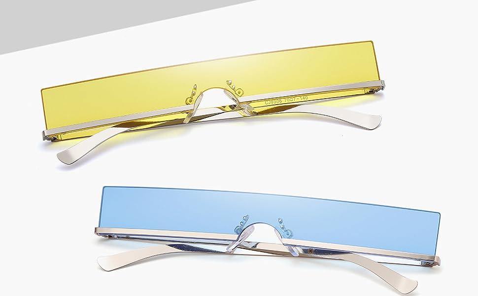 Tiny rectangle sunglasses tinted sunglasses