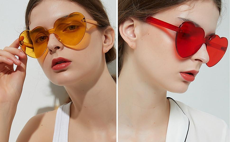 red heart sunglasses orange sunglasses for women