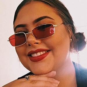 tiny rectangle sunglasses for women