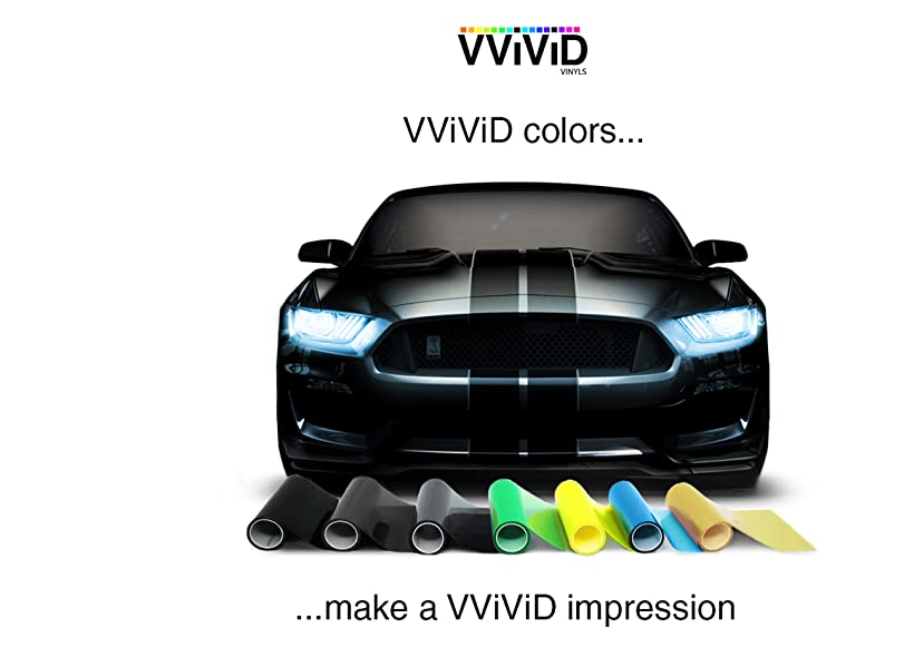 VViViD Red Gloss Headlight Foglight Transparent Air Tint Wrap Self-Adhesive 17.75in x 60in Vinyl Roll
