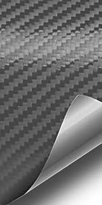 VViViD Vinyls dry 3d dark grey gunmetal carbon fiber vinyl car vehicle automotive wrap roll film