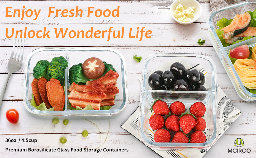 Premium Borosilicate Glass Food Storage Containers