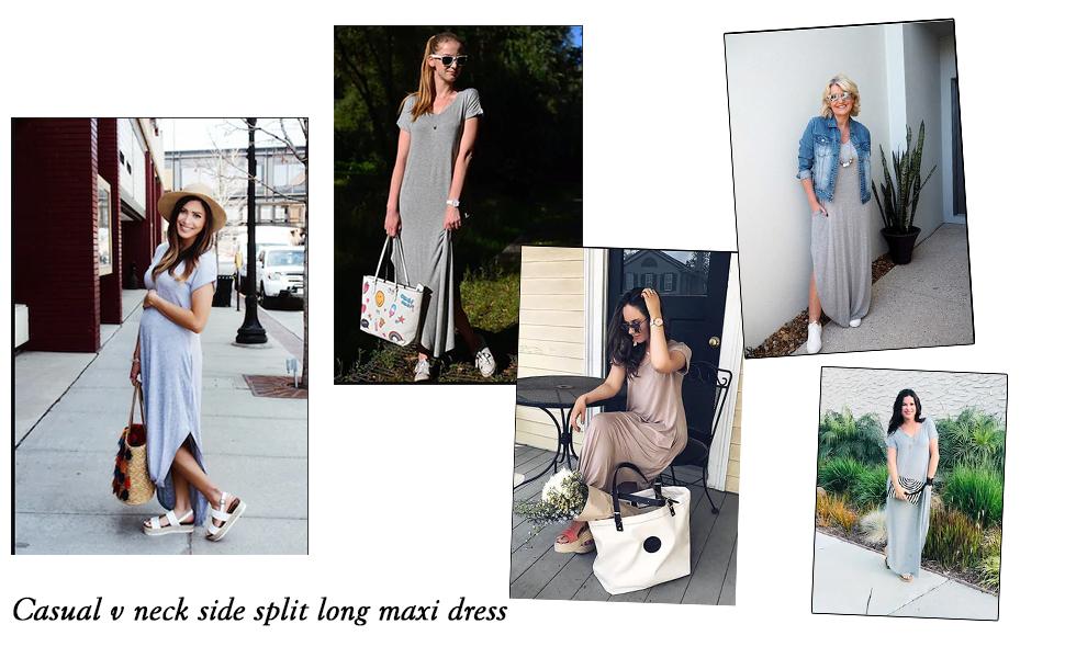 e9a29f1fbe Off Shoulder Caftan Sleeve Harem Maxi Dress · Round Neck Petal Short Sleeve  Ruffle Hem Tunic Dress · Spaghetti Strap V-Neck Side Pockets Maxi Dress ...