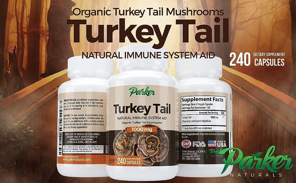 Premium Turkey Tail Mushroom Capsules Supports Immune System Original Superfood Strengthens