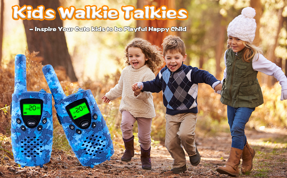 Walkie Talkies for Kids, FAYOGOO 22-Channel FRS/GMRS Radio, 4-Mile Range  Rechargeable Two Way Radios Toys for Kids with Flashlight and LCD  Screen-Boys