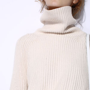 c4a0a39ee2666 Turtleneck Sweater Women Black Oversized Long Sleeve Ribbed Elbow ...