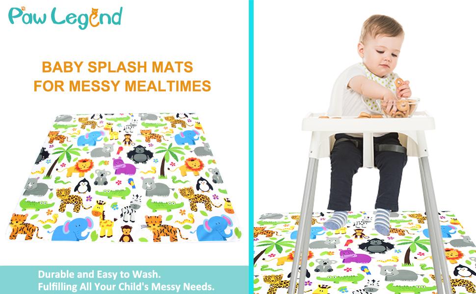 Amazon Com Paw Legend Washable Highchair Splat Floor Mat Anti