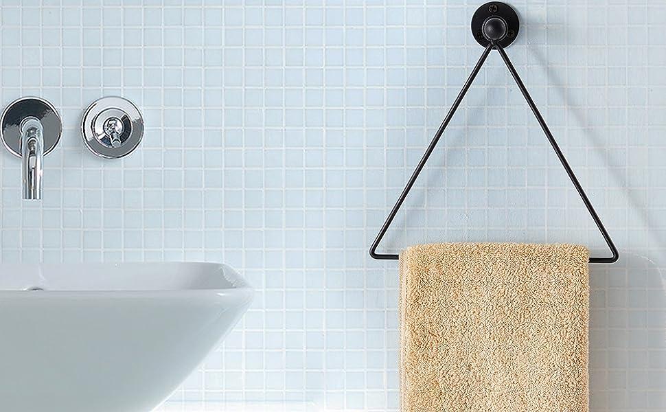 Amazon Com Modern Wall Mounted Triangle Metal Bathroom Kitchen