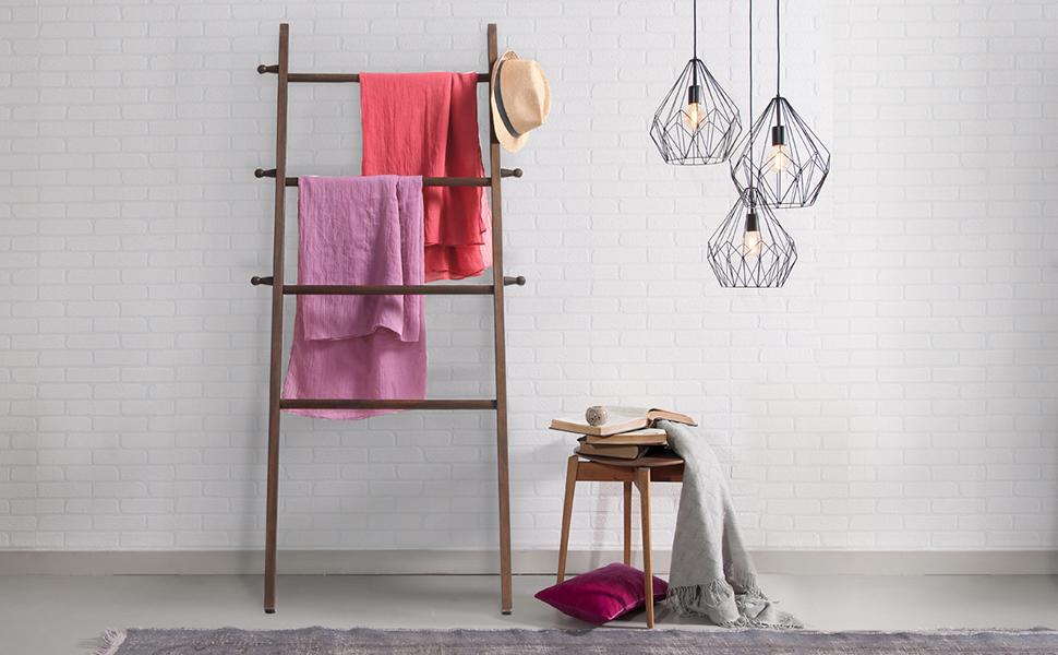 Amazon.com: MyGift wall-leaning madera prenda estilo ...
