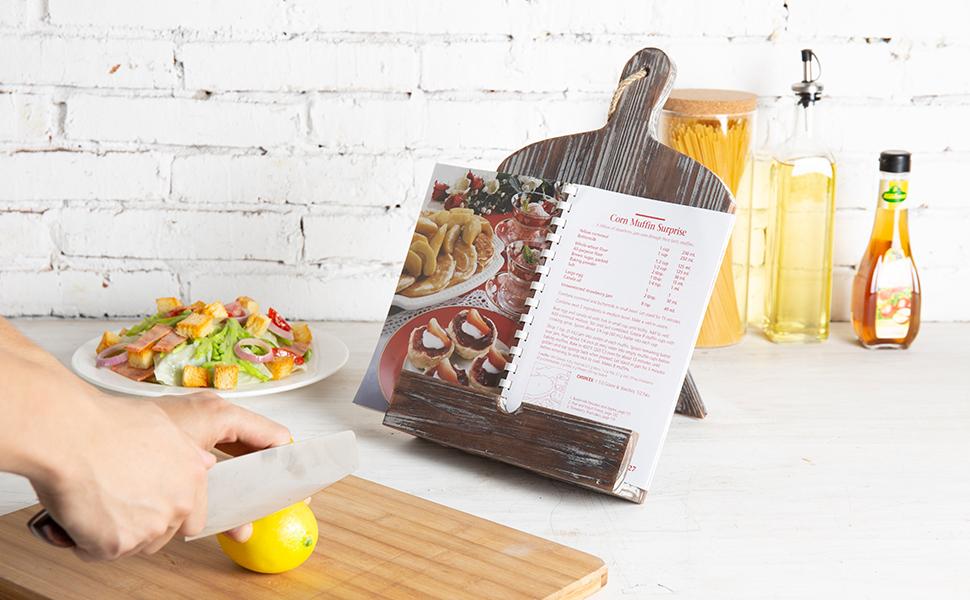 counter top cookbook holder stands