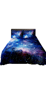 galaxy bedding purple