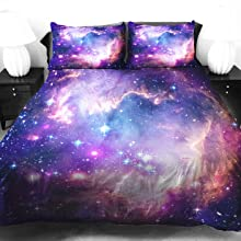 Purple Galaxy Bedding