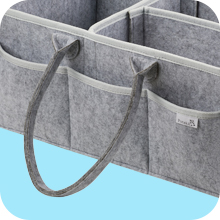 Putska diaper caddy with long and flexible handles for easy carrying