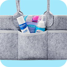 Putska diaper caddy with wide pockets
