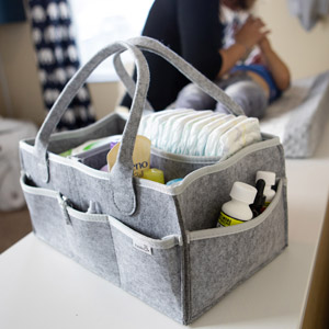 Putska diaper caddy perfect for your changing table