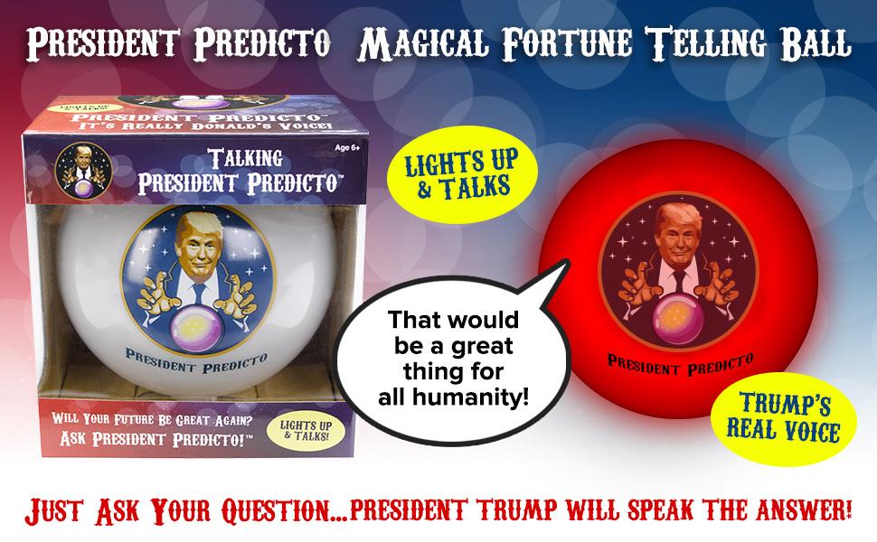Amazon com: President Predicto - Donald Trump Fortune Teller