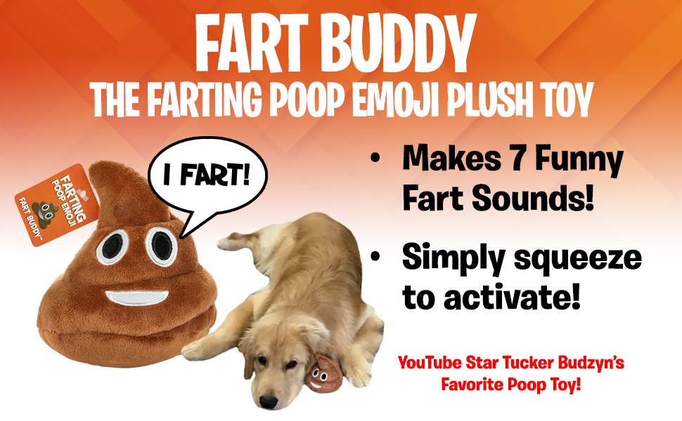 fart farting poop emoji plush toy poo tucker budzyn dog toy funny gift kids boys girls squeeze