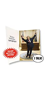donald trump talking happy birthday card funny gag gifts novelty prank gift greeting cards holiday