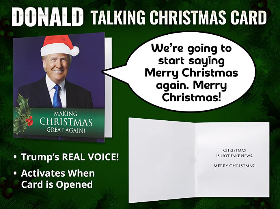 Amazon.com: Talking Trump Christmas Card - Wishes You A Merry ...