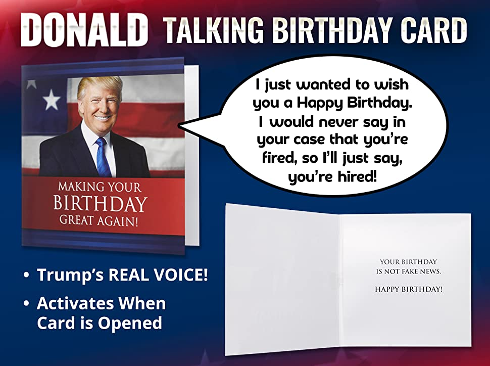 Give The Gift Of Laughter With Trump Talking Birthday Card That Nobody Throws Away
