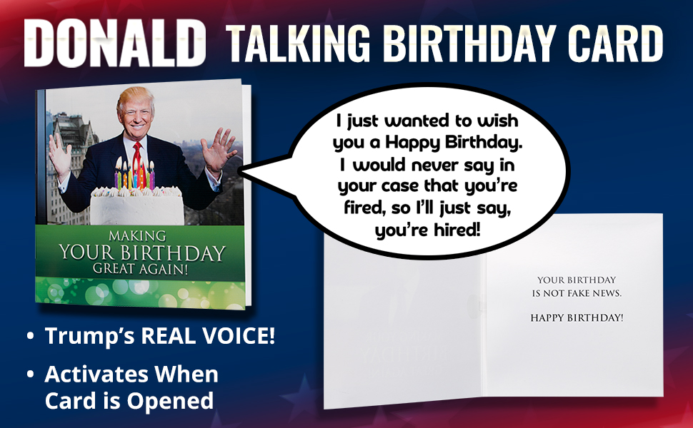 Amazon New Talking Trump Birthday Card Wishes You A Happy