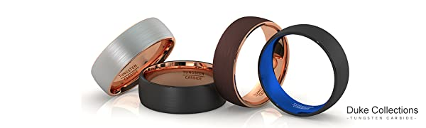 Duke Collections Tungsten Ring Mens Wedding Bands