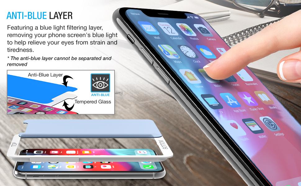 iPhone XS Anti-Blue Screen Protector