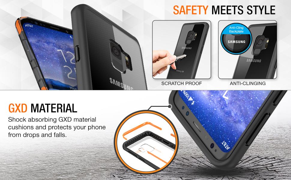 Amazon.com: Maxboost - Funda para Galaxy S9 HyperPro Series ...