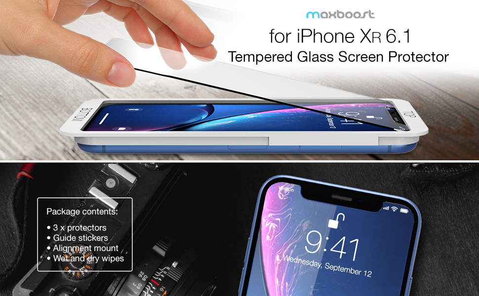 Maxboost iPhone XR Screen Protector
