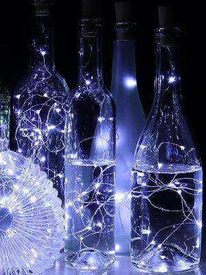 Cool White Bottle Cork lights