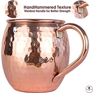 Amazon.com: Moscow Mule tazas de cobre hecho a mano de cobre ...